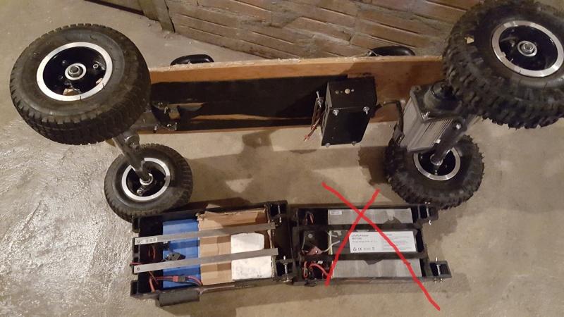 vente de mon skate EVO 1000w batterie lithium avec kit EKO 20160311