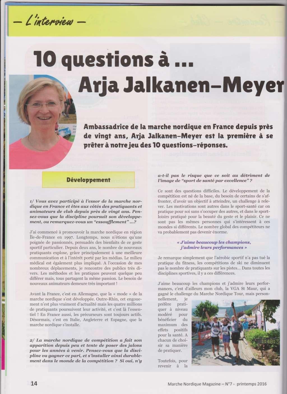 Article dans magazine spécialisé sur la marche nordique : 10 questions à Arja Meyer  Arja_m10