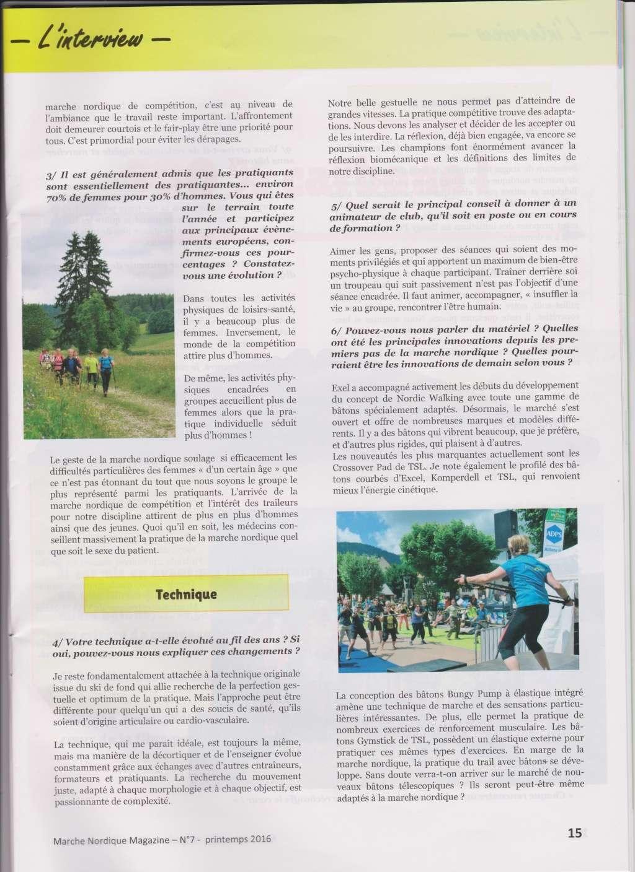 Article dans magazine spécialisé sur la marche nordique : 10 questions à Arja Meyer  Arja_m11