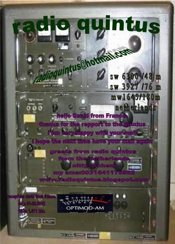 eQSL de radio QUINTUS 11033110