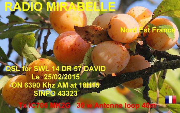 eQSL de R.Mirabelle 14dr0510