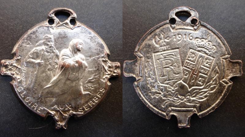 Médaille militaire GLOIRE AUX SERBES.Pour la journée du 25 juin 1916. Deskto15