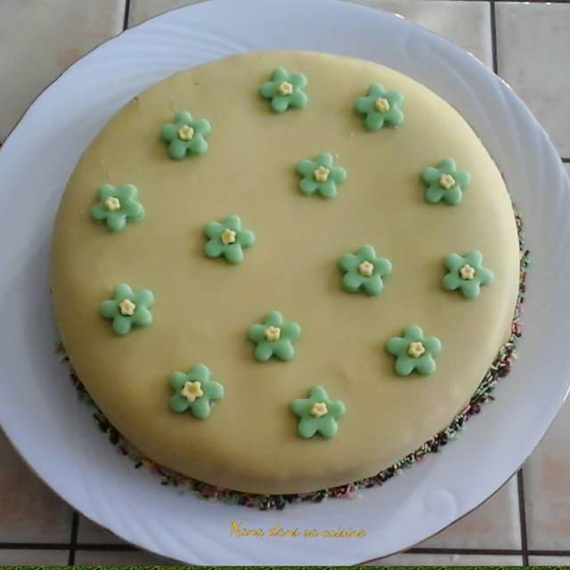 Rain bow cake ganache au nutella  Fb_img90