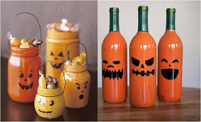 frascos decorados  de calabaza 2r3fl010