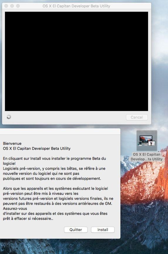 OS X El Capitan Developer Beta Utility.app Sans_t10