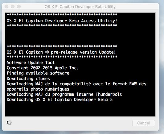 OS X El Capitan Developer Beta Utility.app Sans_t12