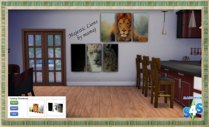 Majestic Lions- wall art for Sims 4 02-17-10