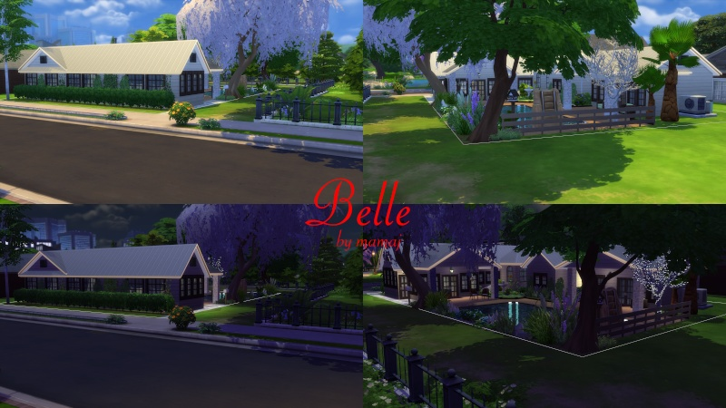 Belle by mamaj for Sims 4 Belle10