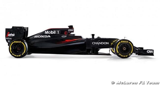 Saison 2016 - Présentations des F1 Mclare10