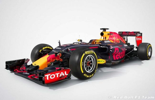 Saison 2016 - Présentations des F1 Redbul11