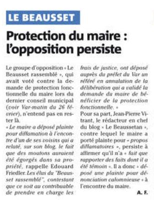 Protection Fonctionnelle du maire (suite) Protec10