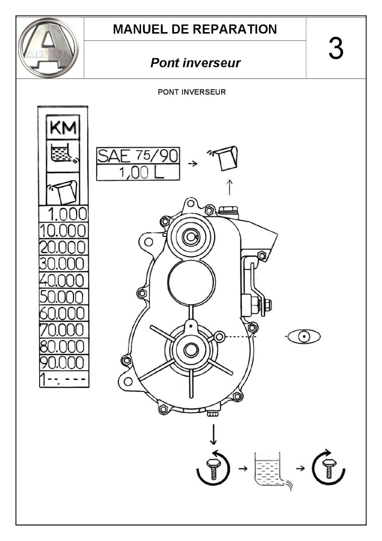 Pont inverseur COMEX GENERAL MOTOR mettre l'huile AIXAM  C_user17