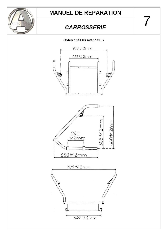 Cotes cellule aluminium  Aixam City C_user22