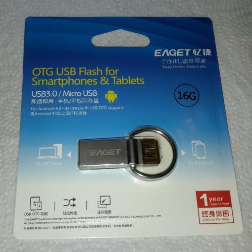 EAGET V90 Handy USB-Stick OTG Speicherstick Memory Stick mit dualen Steckern Verpac27