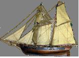 LA TOULONNAISE, goelette de 1823 au 1/75 par parellum, sous voiles, et photos Musée de la Marine Signat10