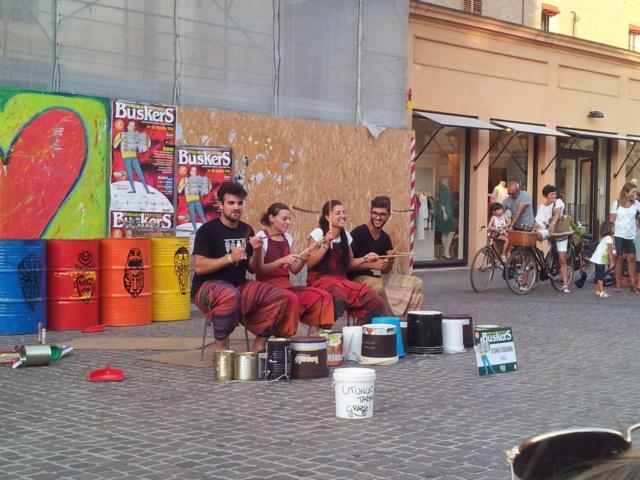 21 Agosto: serata al Ferrara Buskers Festival Gruppo13