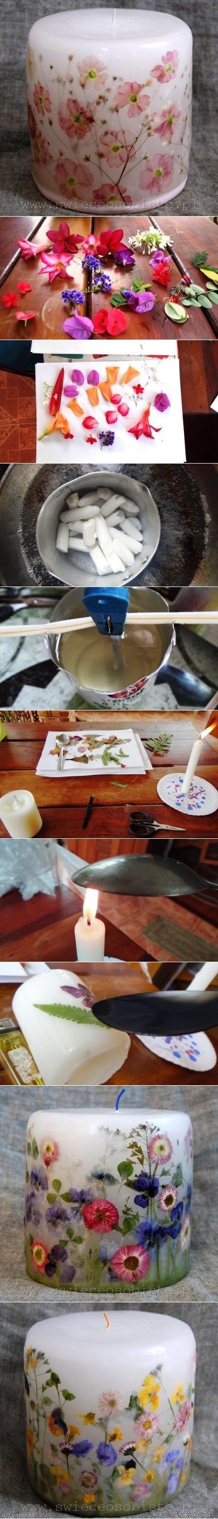 Fabriquer une bougie florale 73b39611