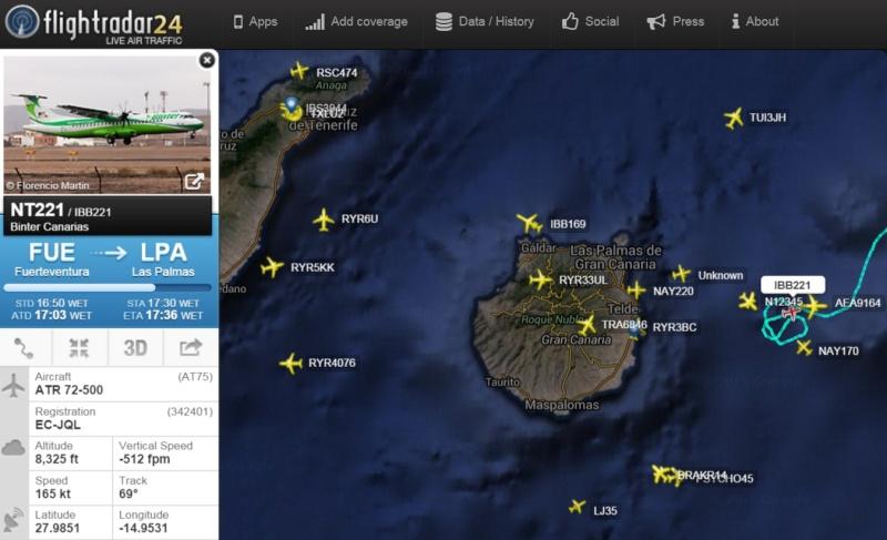Globo de Google y tráfico militar al sur de Canarias Circui10