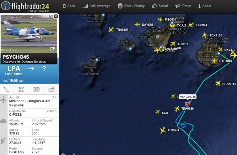 Globo de Google y tráfico militar al sur de Canarias Psyco410