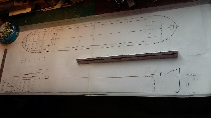péniche du canal du Midi au 1/50è sur plans Plan_m11