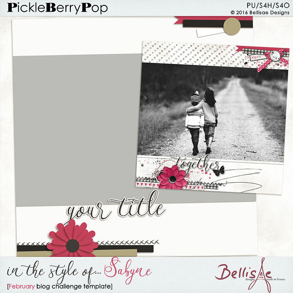 February Template Challenge Bellis14