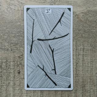 El Salvaje desconocido - Tarot - Bastos Cinco_10