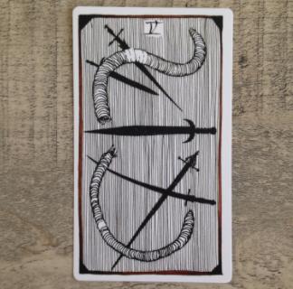 El Salvaje desconocido - Tarot - Espadas Cinco_12