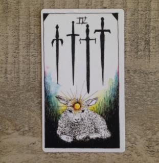 El Salvaje desconocido - Tarot - Espadas Cuatro12