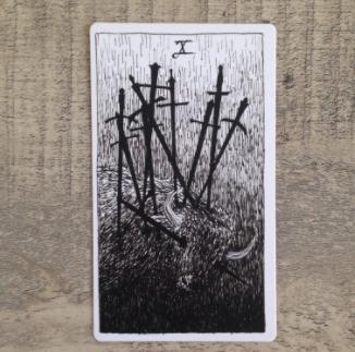 El Salvaje desconocido - Tarot - Espadas Diez_d12