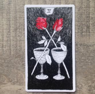 El Salvaje desconocido - Tarot - Copas Dos_de11
