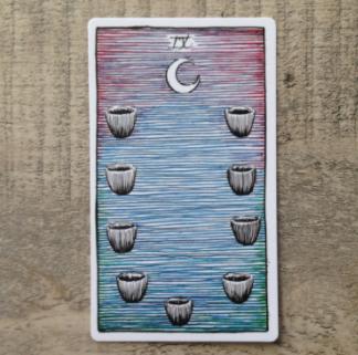 El Salvaje desconocido - Tarot - Copas Nueve_11