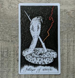 El Salvaje desconocido - Tarot - Bastos Padre_10