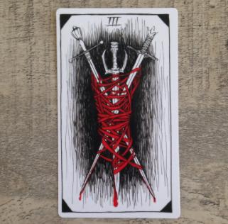 El Salvaje desconocido - Tarot - Espadas Tres_d12
