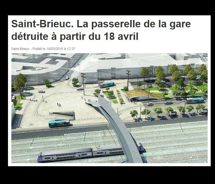 Saint-Brieuc. Aménagements pour remplacer la passerelle de Rabelais // mise à jour le 22.11.2017 3511