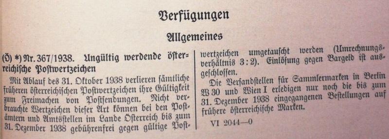 Österreichische Briefmarken im III. Reich Gyltig10