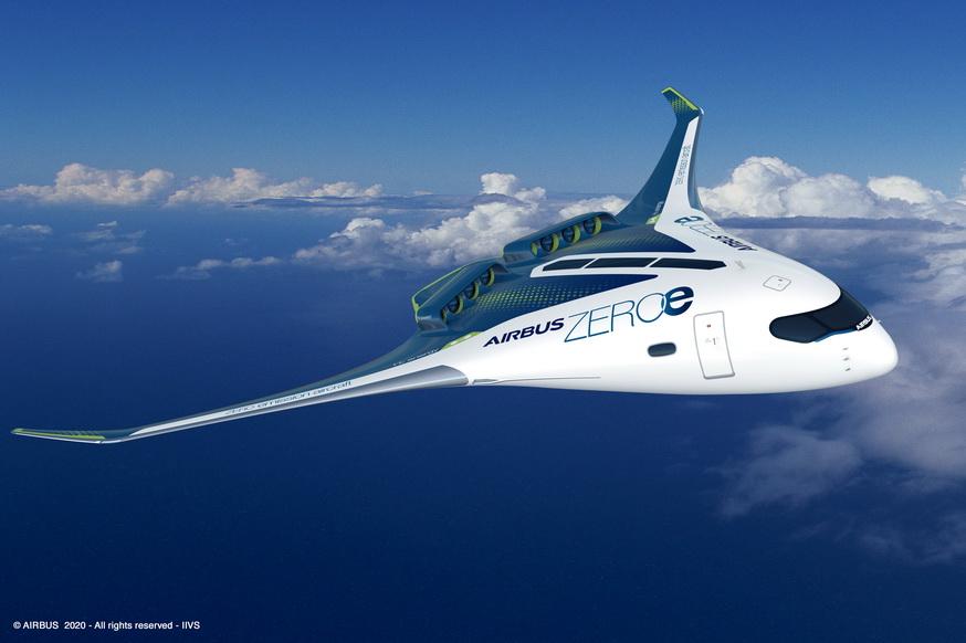 Airbus dévoile ses nouveaux concepts d'avion zéro émission Airbus10