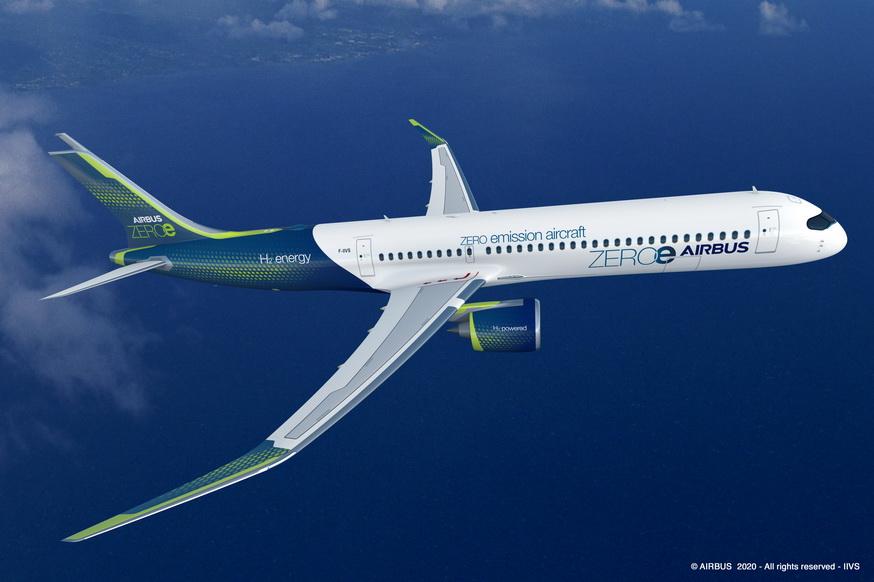Airbus dévoile ses nouveaux concepts d'avion zéro émission Airbus11