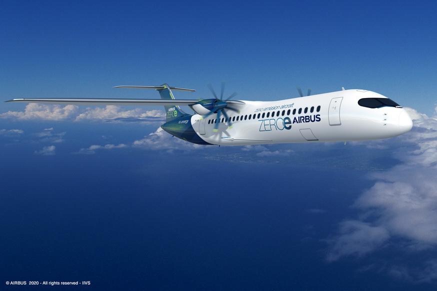 Airbus dévoile ses nouveaux concepts d'avion zéro émission Airbus12