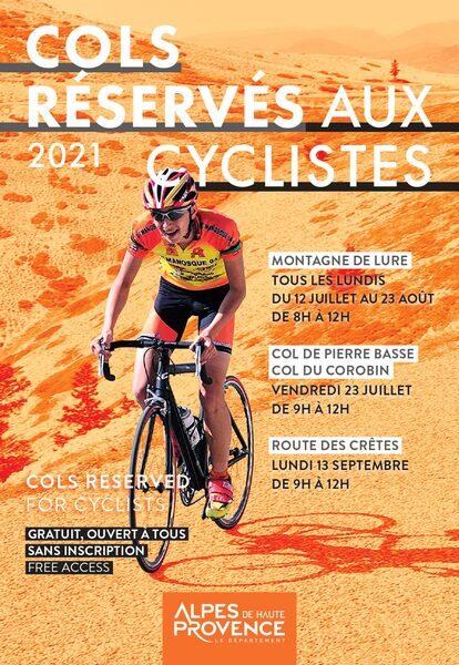Cyclotourisme : des cols des Alpes de Haute Provence réservés aux cyclistes  Cols_r10