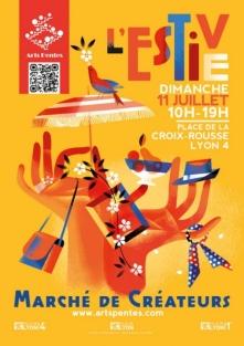 Arts pentes  Marché de créateurs L'Estive à la Croix-Rousse le 11 juillet Estive10