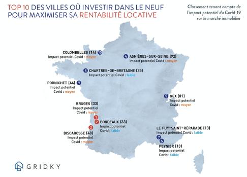 Immobilier et Covid_19 : la carte des villes où investir après la crise Invest10