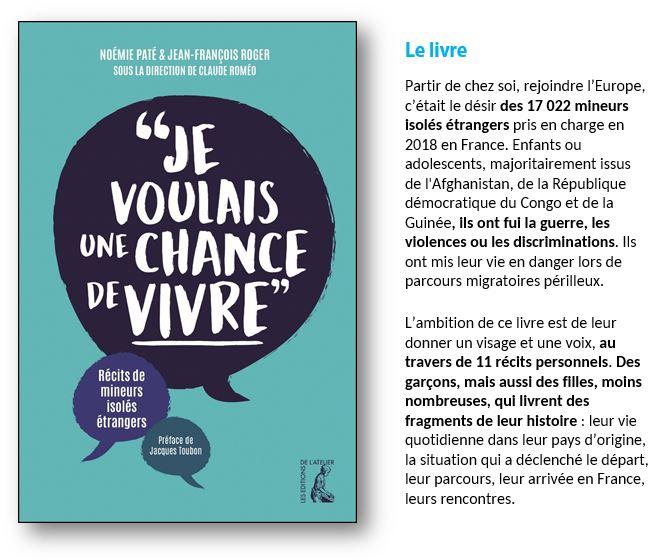 Mineurs isolés : un livre leur donne la parole Je_vou10