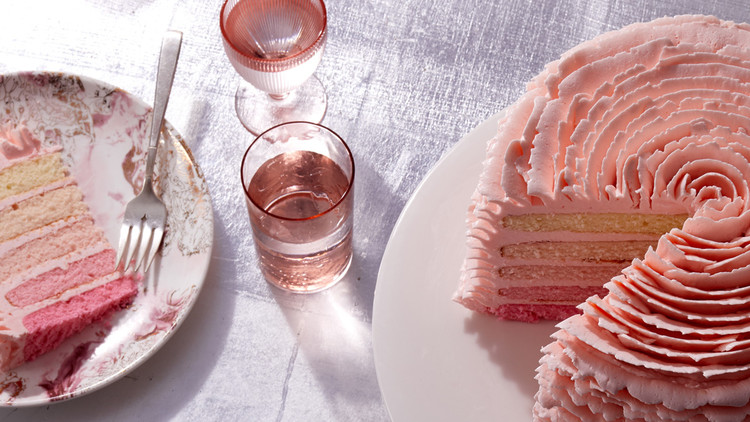 Martha Stewart's Ombre Strawberry Cake Cake10