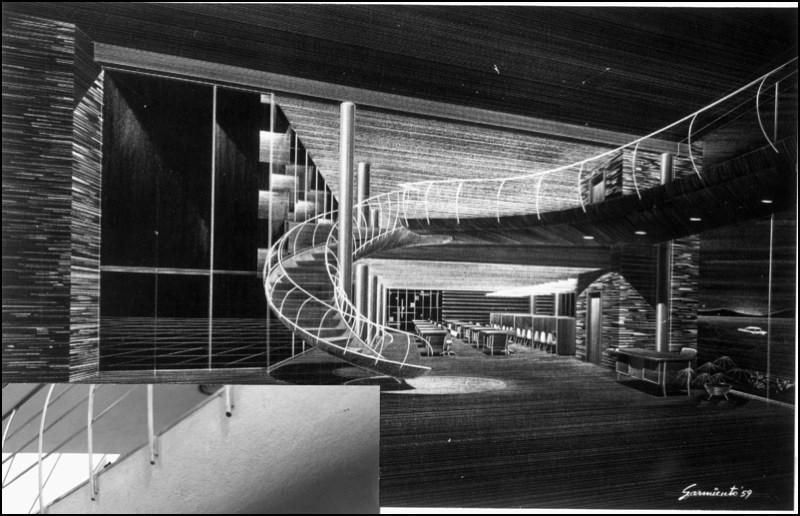 Architectures de banques et bureaux vintages - 1950's & 1960's Office & Bank  Arch1110