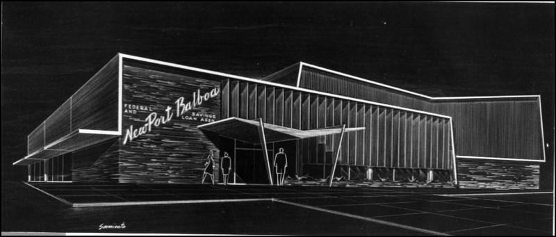 Architectures de banques et bureaux vintages - 1950's & 1960's Office & Bank  Arch9a10