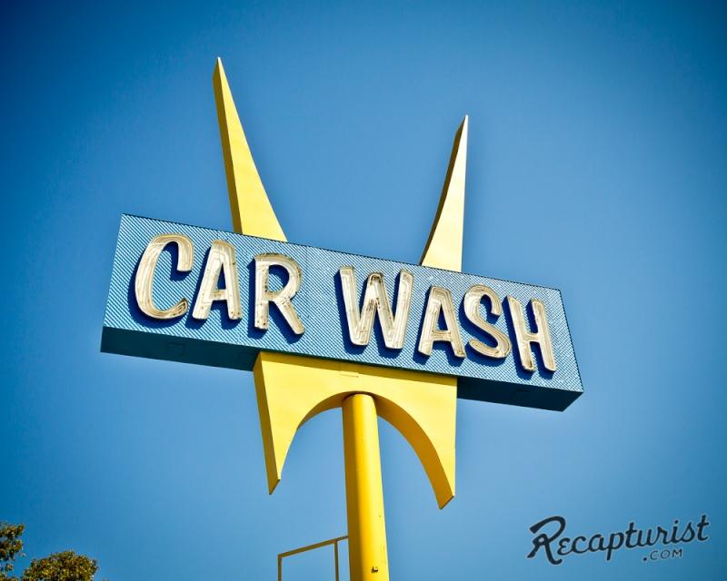 Car Wash 1950s - 1960s - Centre de lavage auto Five-p10
