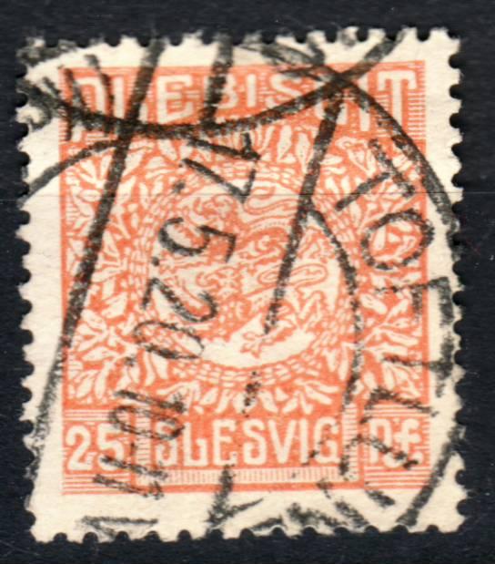 Zone - Abstimmungsgebiet Schleswig Abstempelungen Zone 1 (Deutsche Stempel) Schles10
