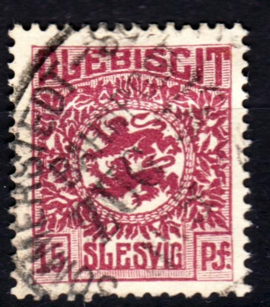 Zone - Abstimmungsgebiet Schleswig Abstempelungen Zone 1 (Deutsche Stempel) Schles11
