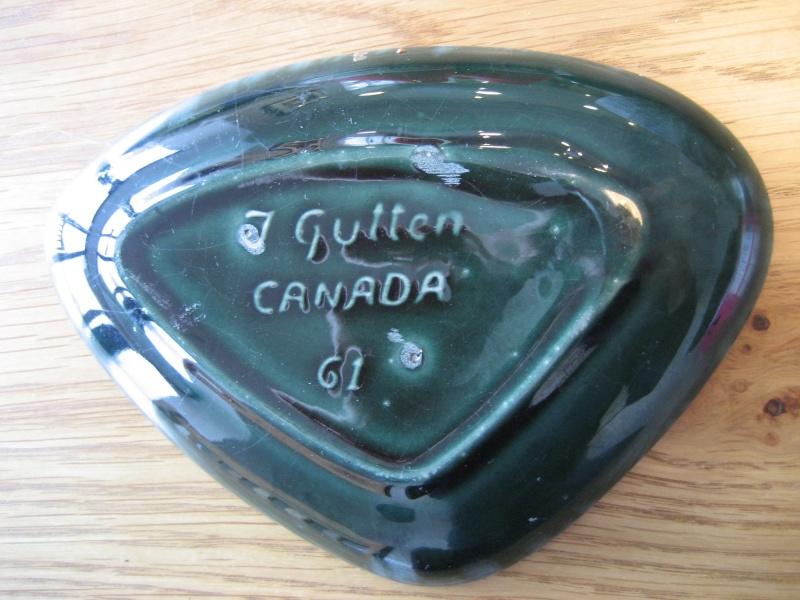 Triangular Shaped Bonbon Dish 'J Gutten' Canada Img_2817