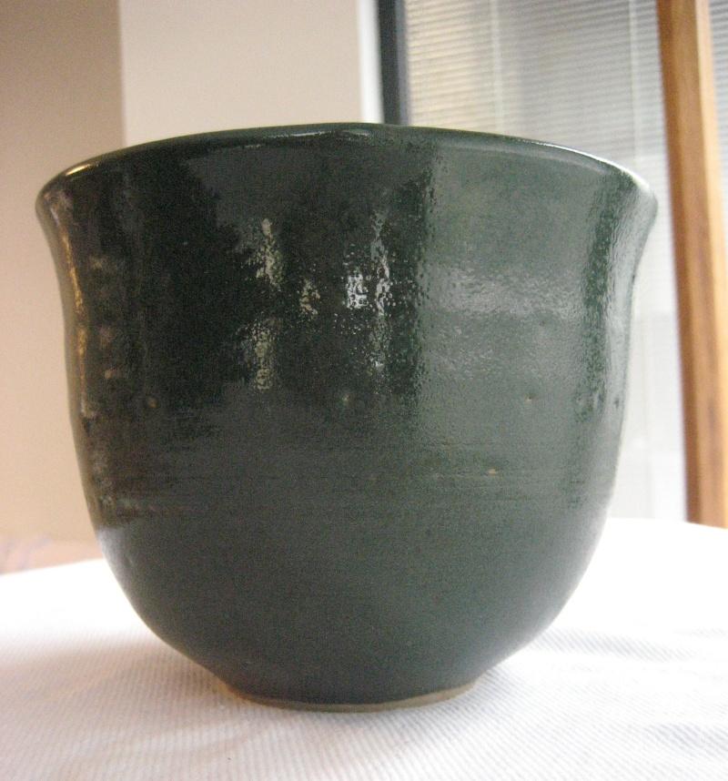 Green Glazed Pot With JC Mark- Hobby Potter? Img_2911